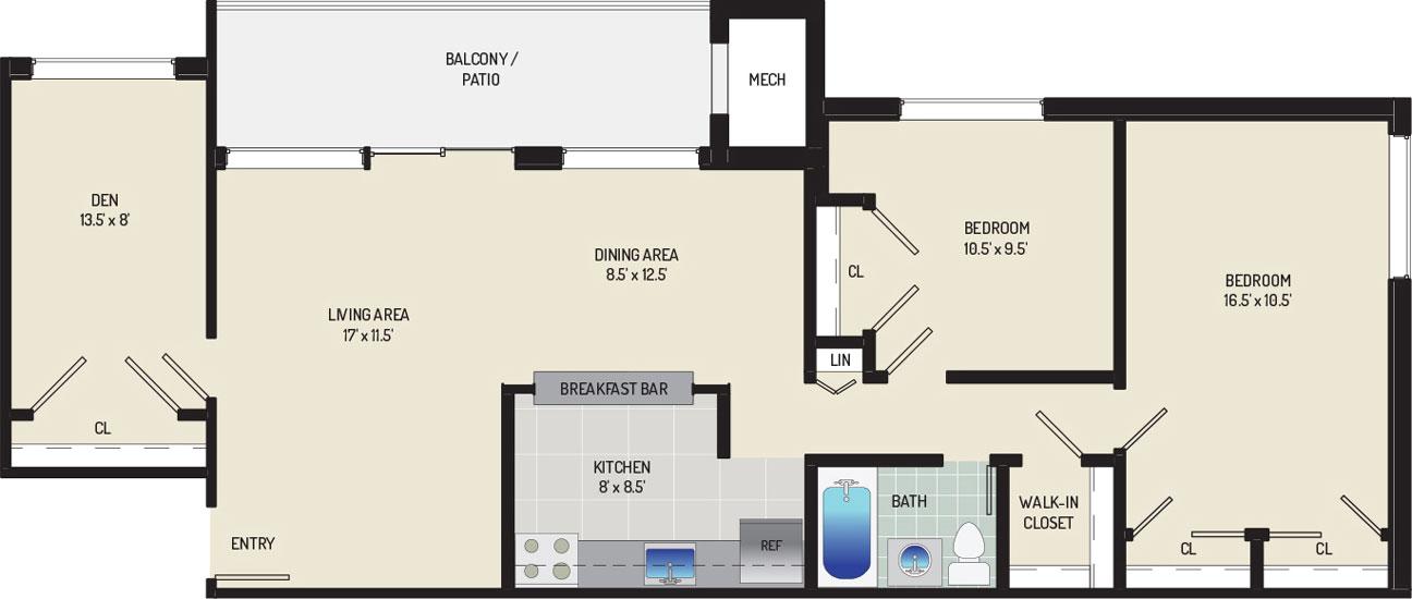 Riverside Plaza Apartments - Apartment 256263-103-E1