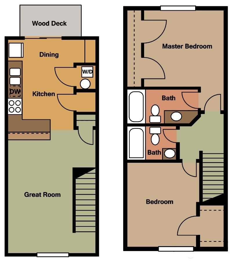 River Trail Apartments - Floorplan - Plan A1