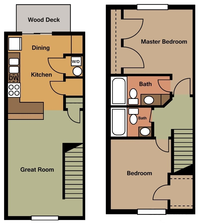 River Trail Apartments - Floorplan - Plan A2