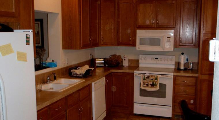 Kitchen Interior of River Trail Apartments in Ogden, KS