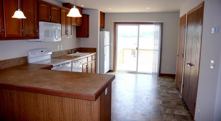 Kitchen Interior of River Trail Apartments in Ogden, KS