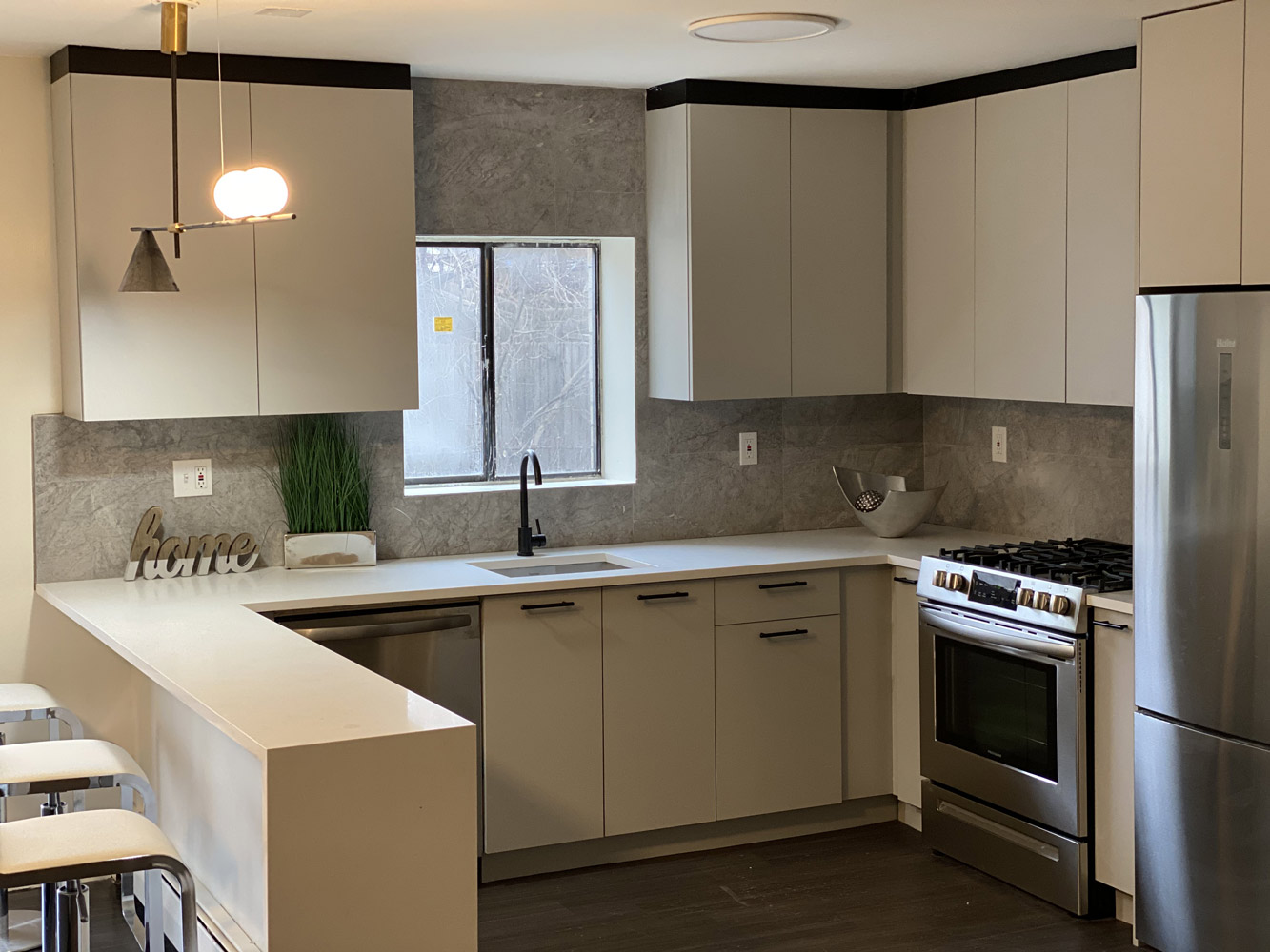 White Kitchen Fixtures at Riverview at Nyack Apartments in Nyack, New York