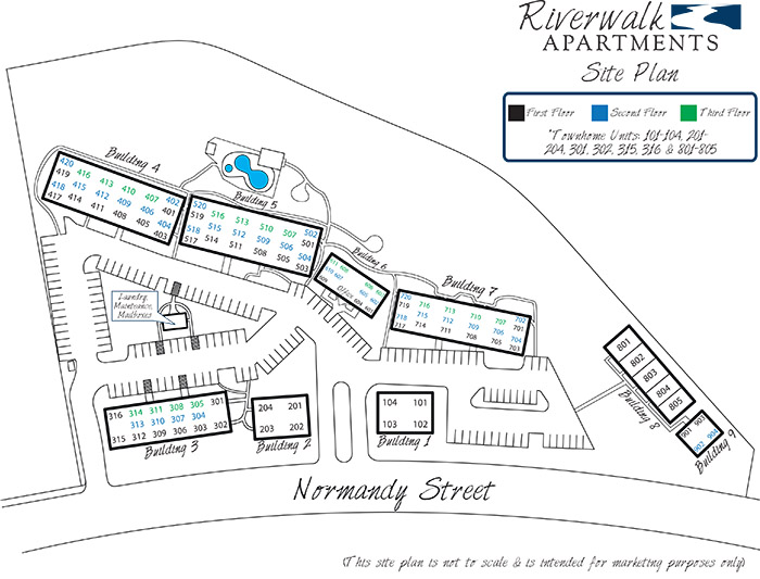 Riverwalk Apartments Site Plan