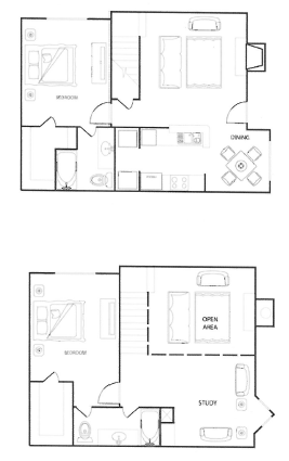 Riverwalk Apartments - Floorplan - The Magnolia