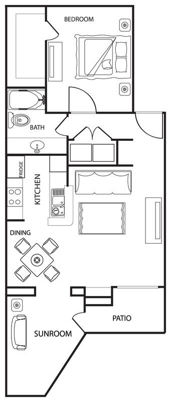 Riverwalk Apartments - Floorplan - The Cedar