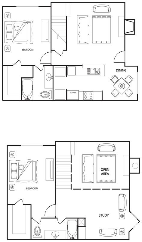 Riverwalk Apartments - Floorplan - The Magnolia
