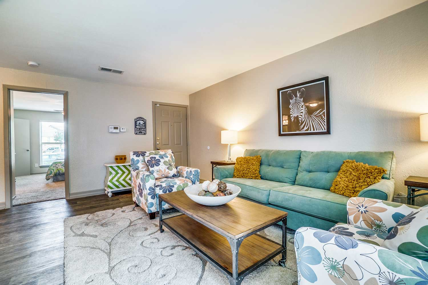 Modern Design Living Rooms at Riviera Apartments in Dallas, Texas