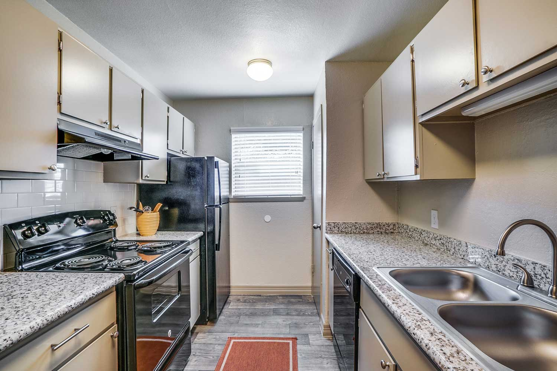 Modern Kitchens at Riviera Apartments in Dallas, Texas