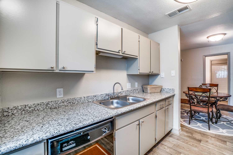 Kitchen Storage at Riviera Apartments in Dallas, Texas