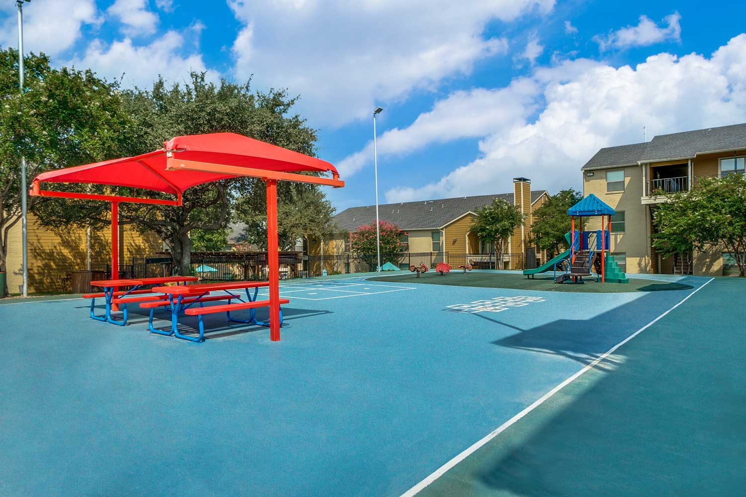 Playground at Riviera Apartments in Dallas, Texas