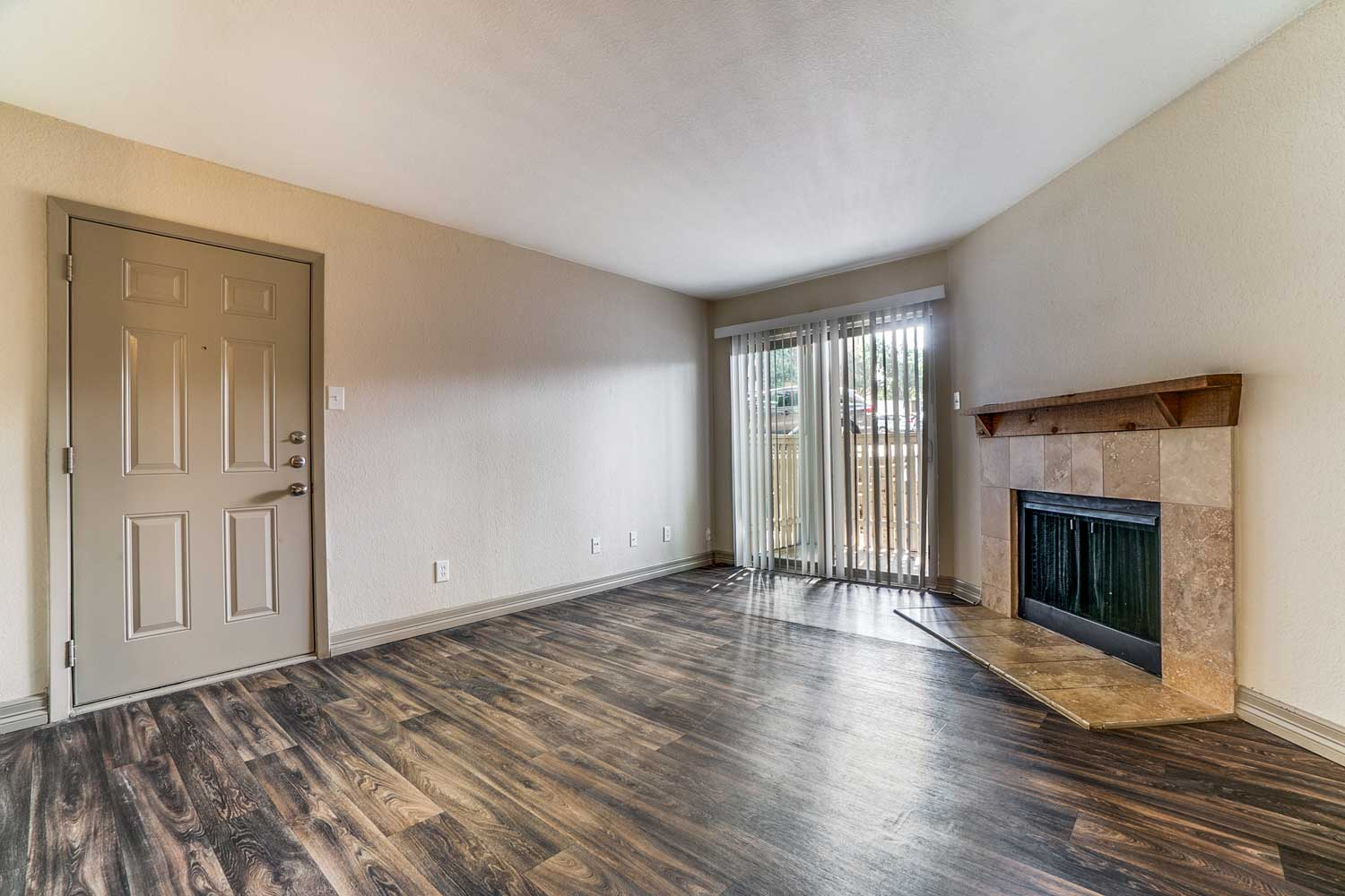 Fire Place at Riviera Apartments in Dallas, Texas