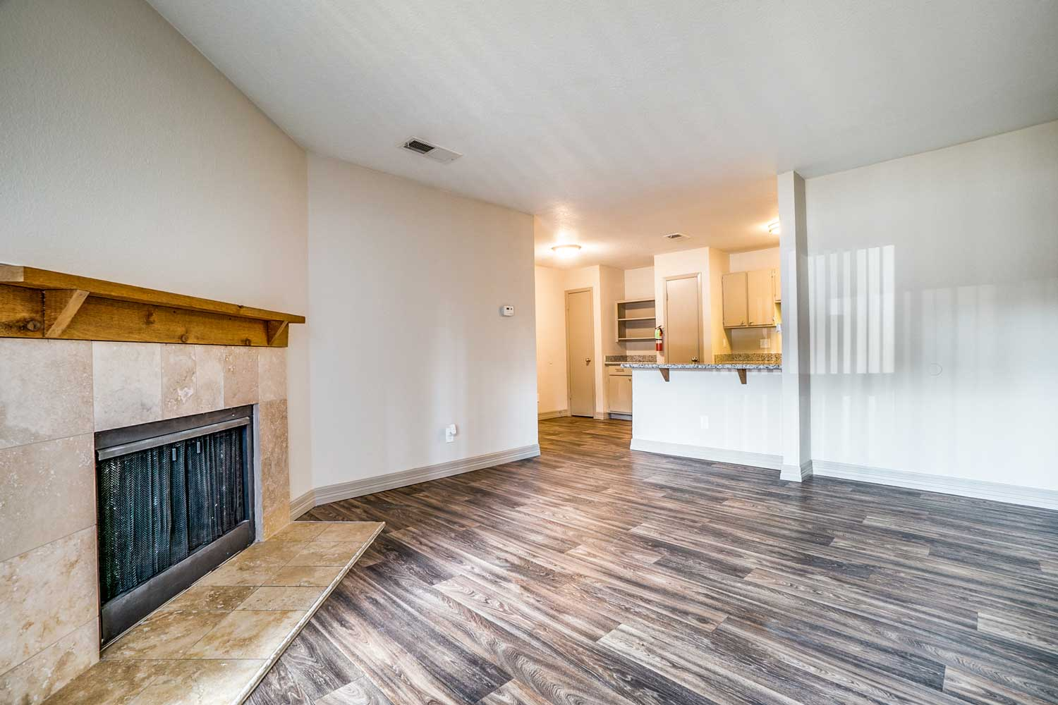 Vaulted Ceilings at Riviera Apartments in Dallas, Texas