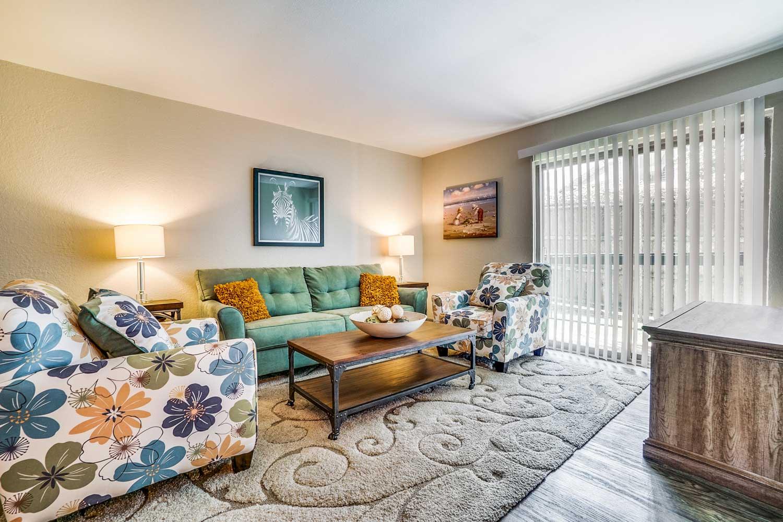 Living Room at Riviera Apartments in Dallas, Texas