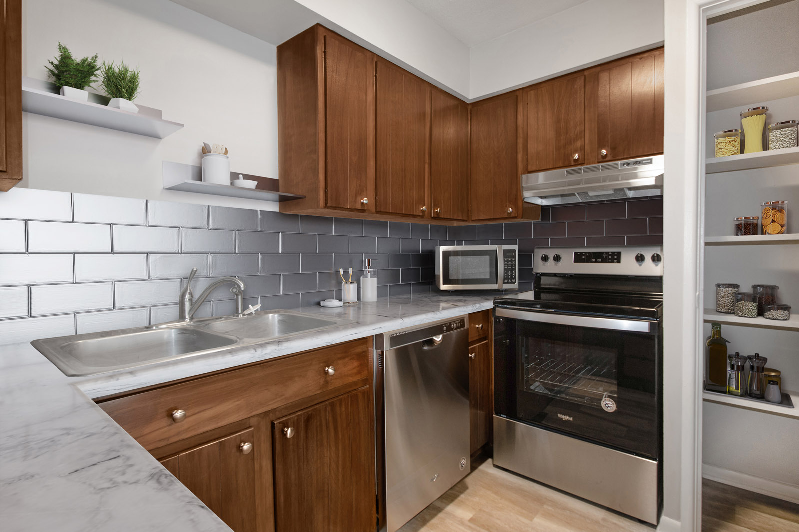 Newly Updated, Well-Equipped Kitchens at Pinehill Park in Bellevue, Nebraska