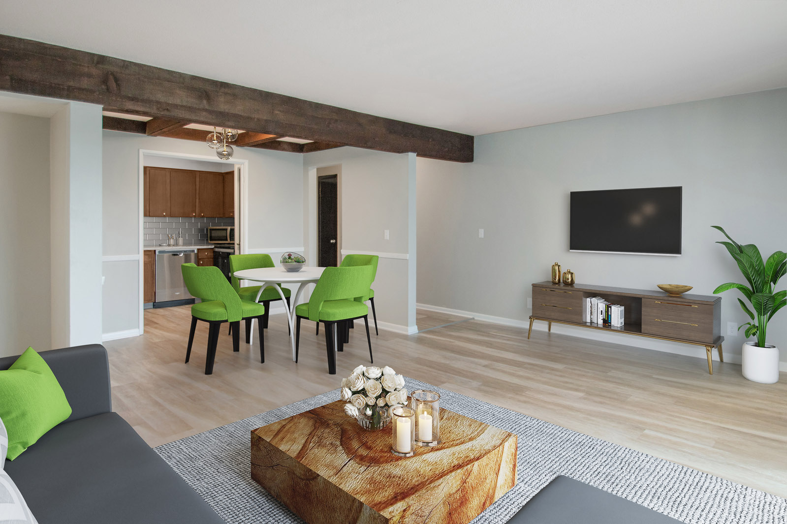 Spacious Living and Dining Areas at Pinehill Park in Bellevue, Nebraska
