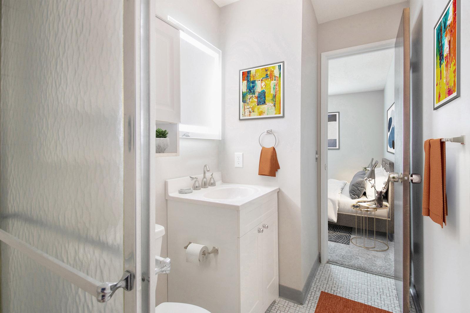 Full-Size Bathrooms at Pinehill Park in Bellevue, Nebraska