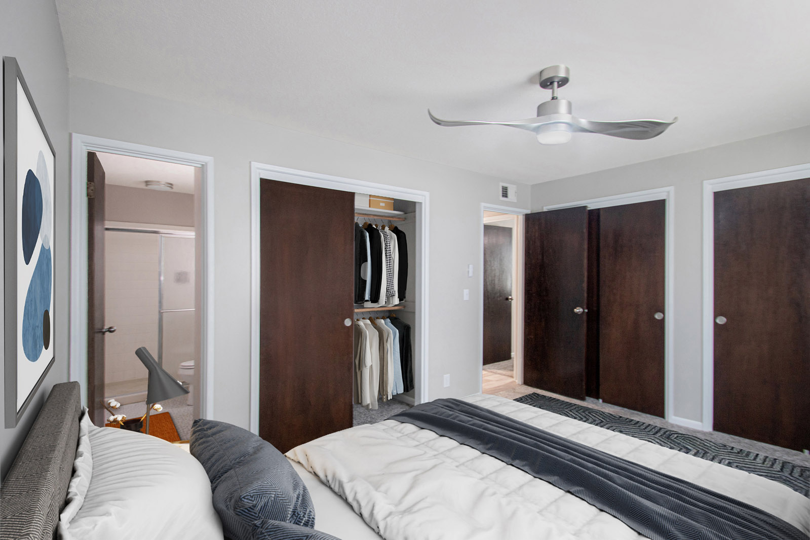 Spacious Bedrooms with Ample Closet Space at Pinehill Park in Bellevue, Nebraska