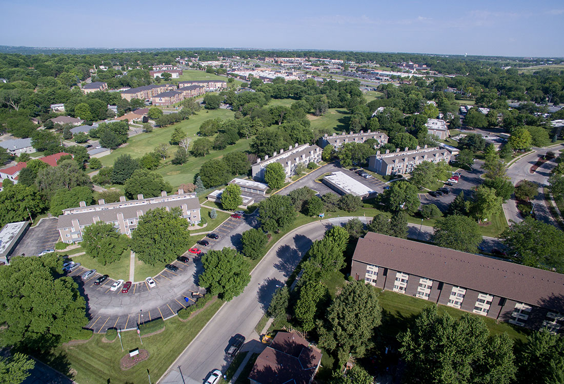 Aerial Views of Royalwood Apartments in Omaha, Nebraska