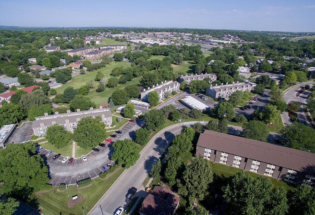 Aerial Views of Royalwood Apartments in Omaha, Nebraska