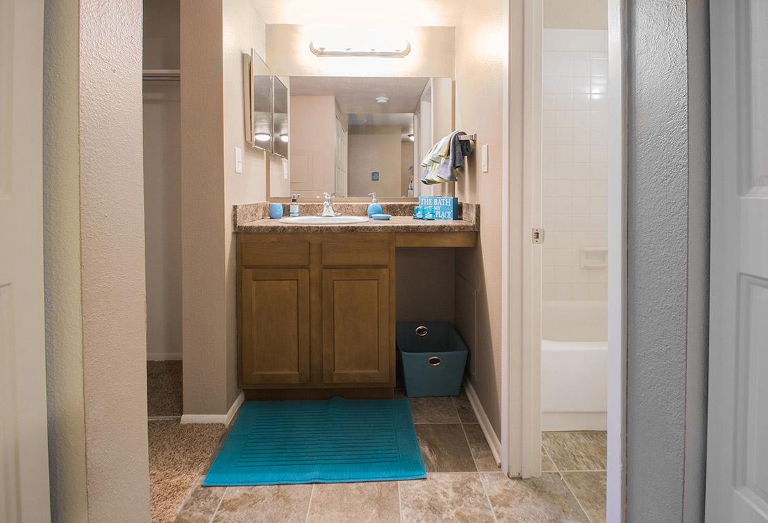 Shower and Tub Combination at Royalwood Apartments in Omaha, Nebraska