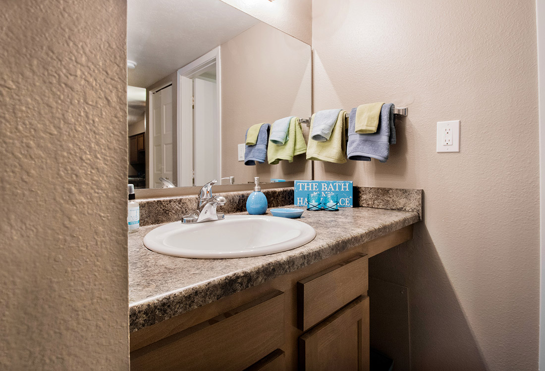 Bathroom Vanity at Royalwood Apartments in Omaha, Nebraska