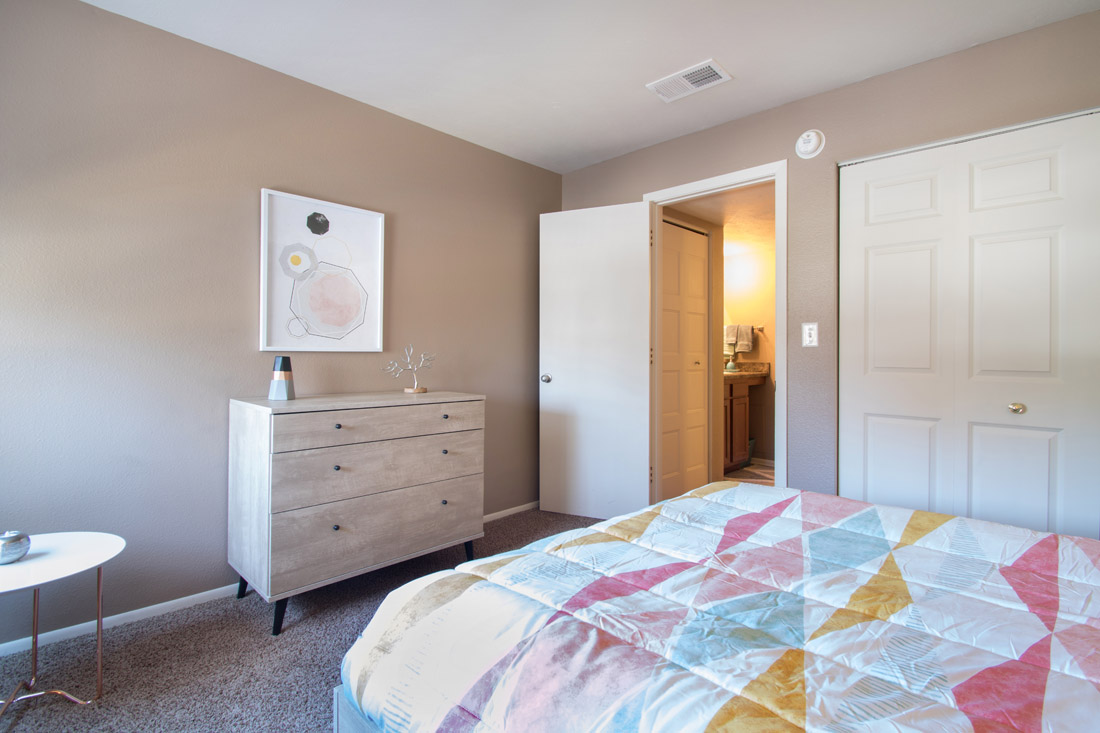 Large Bedrooms with Huge Closets at Royalwood Apartments in Omaha, Nebraska