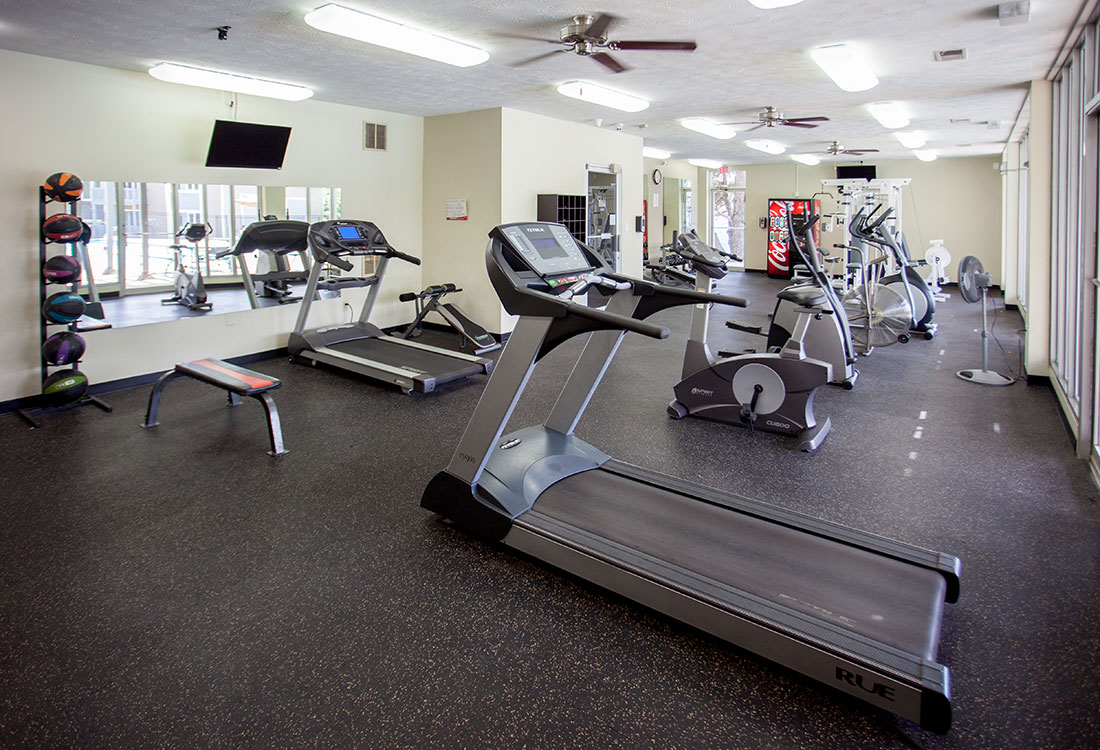 Fully-Equipped Fitness Center at Royalwood Apartments in West Omaha, Nebraska