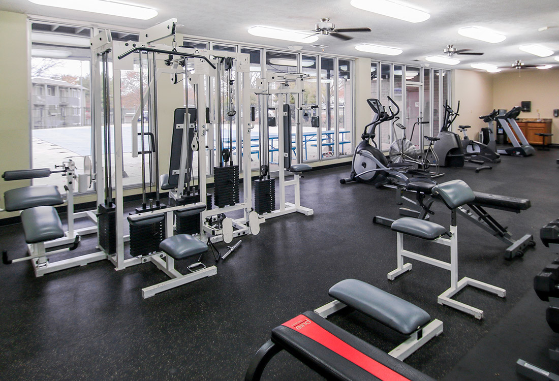 Full-Equipped Fitness Center at Royalwood Apartments in Omaha, Nebraska