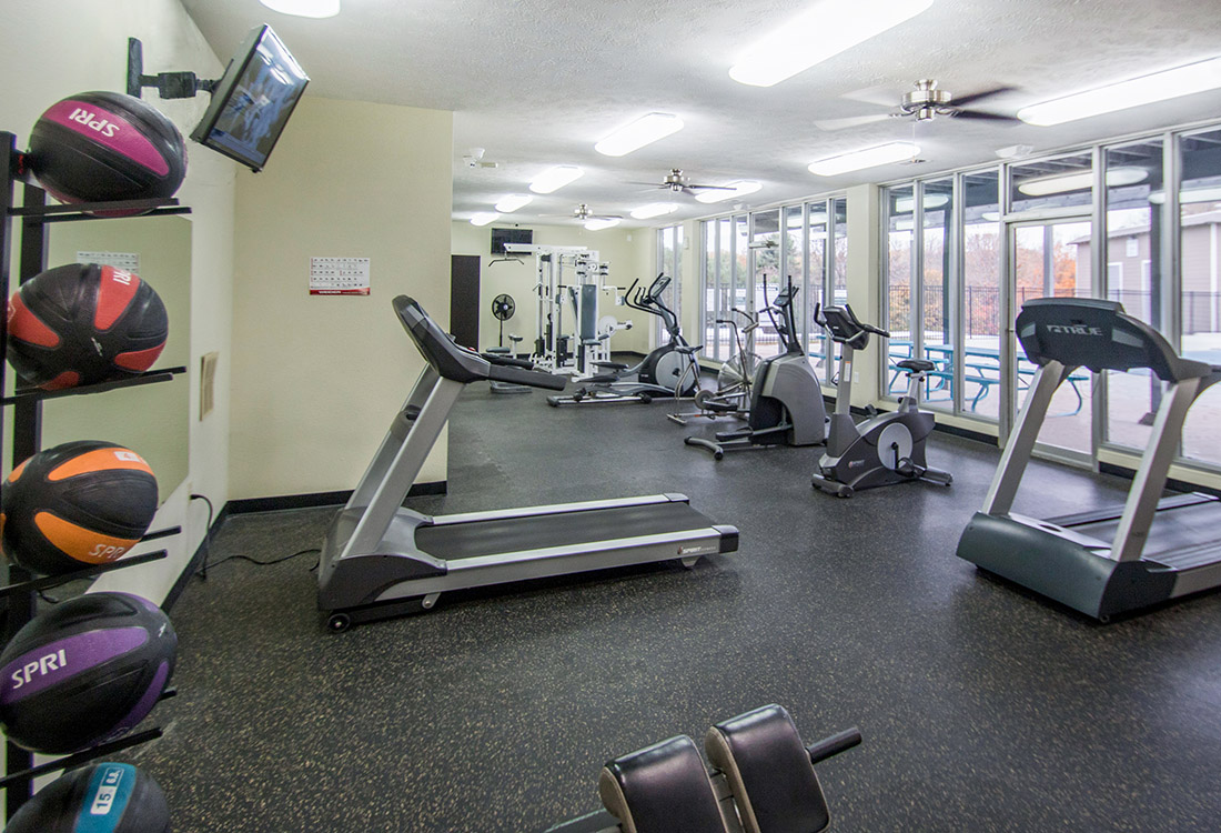 Convenient Fitness Center at Royalwood Apartments in Omaha, Nebraska