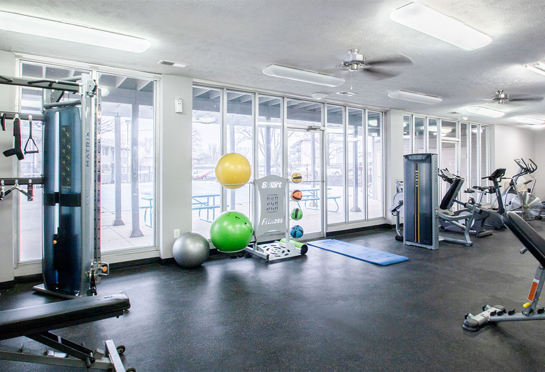 Convenient Fitness Center at Royalwood Apartments in West Omaha, Nebraska