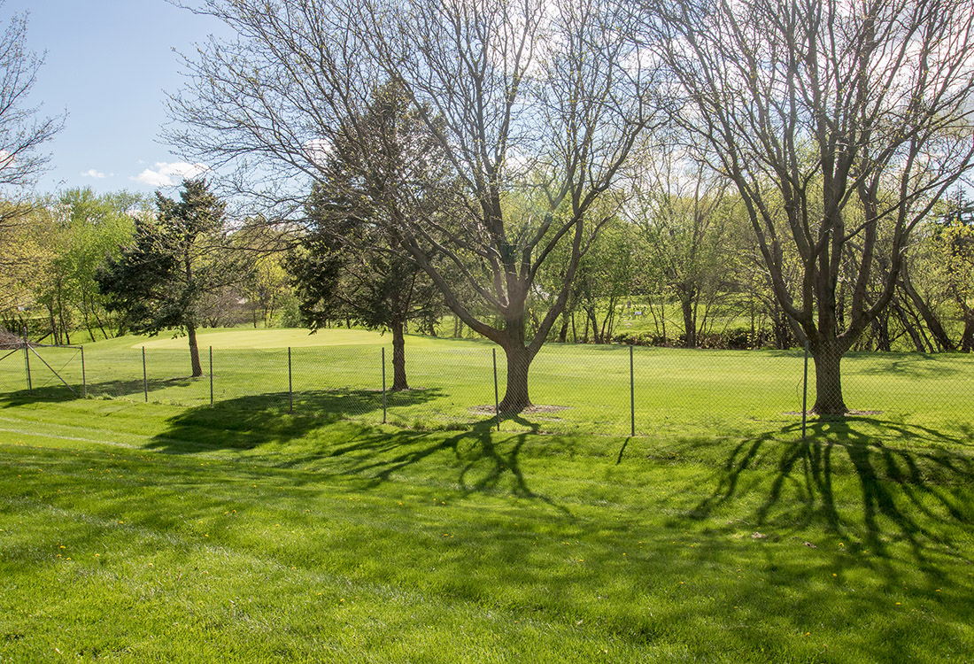 Landscaped Grounds at Royalwood Apartments in Omaha, Nebraska