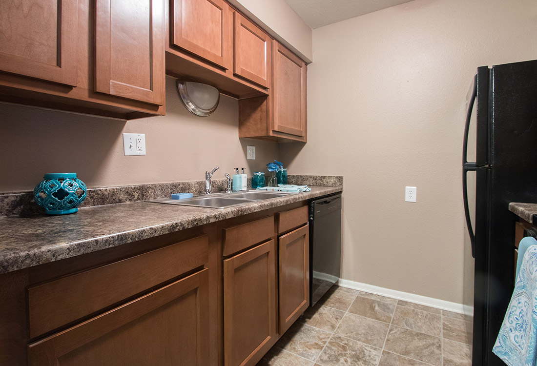 Ample Counter Space at Royalwood Apartments in Omaha, Nebraska