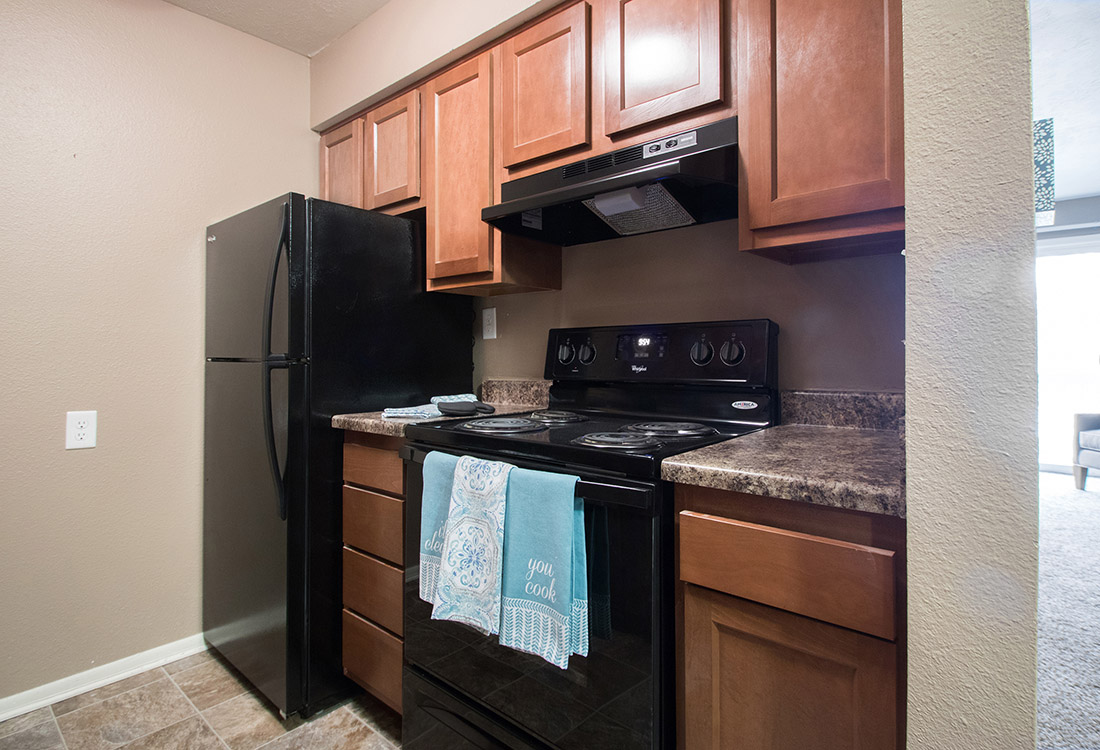 Upgraded Modern Kitchen at Royalwood Apartments in Omaha, Nebraska