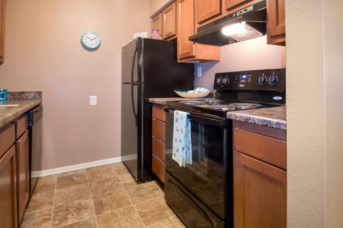 Fully Equipped Kitchen at Royalwood Apartments in Omaha, Nebraska