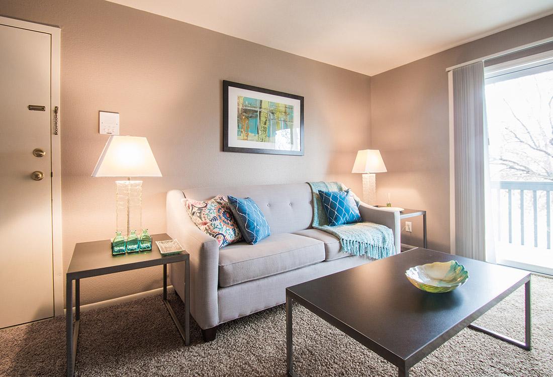 Large Living Room at Royalwood Apartments in Omaha, Nebraska