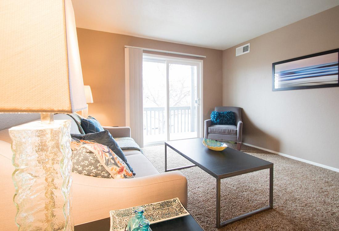 Private Balcony at Royalwood Apartments in Omaha, Nebraska