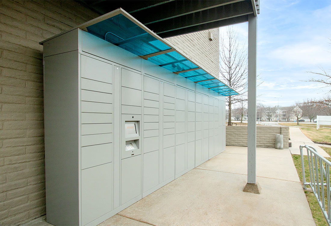 Convenient Package Lockers at Royalwood Apartments in West Omaha, Nebraska