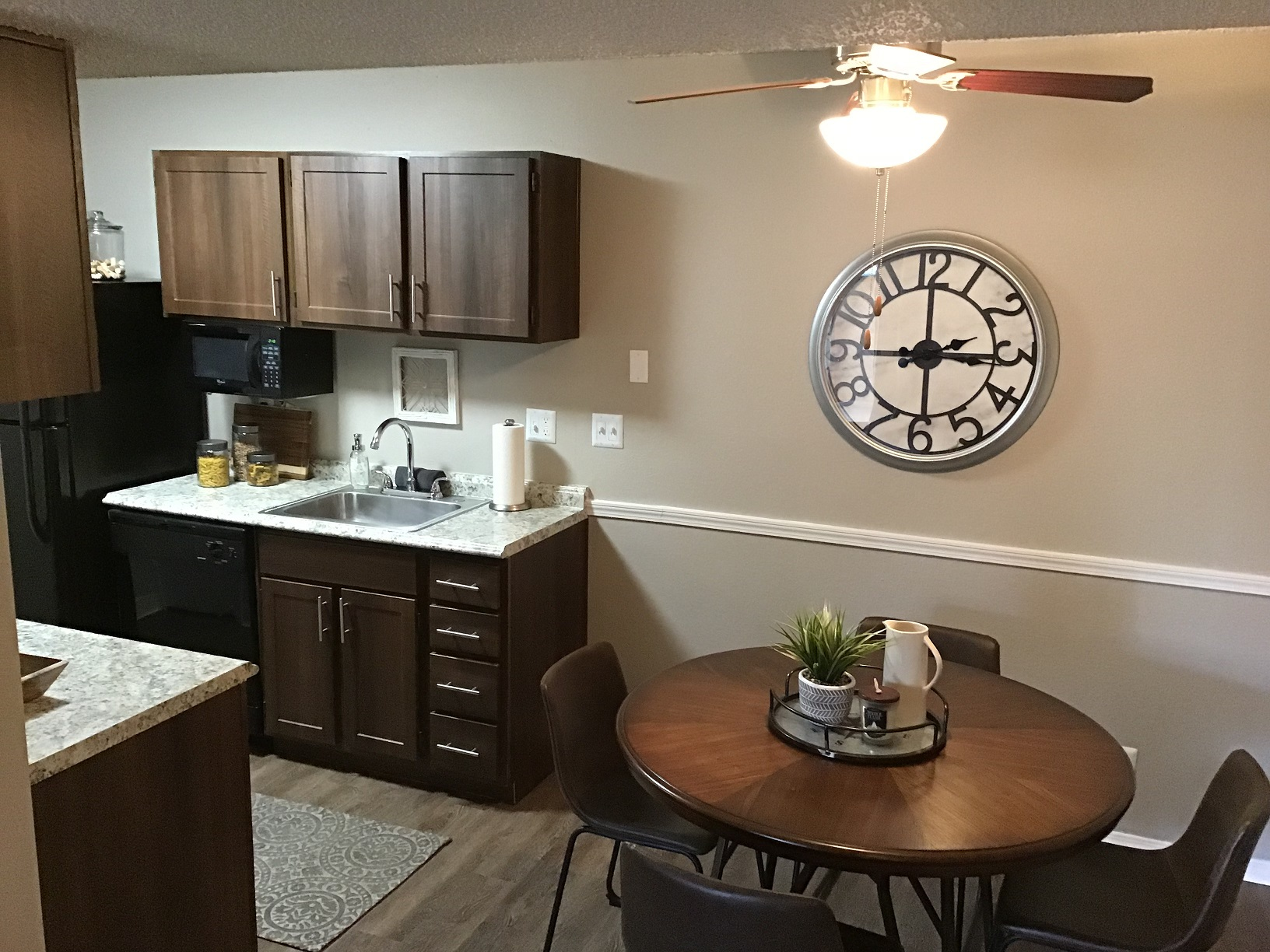 Wood Style Furniture at Rustic Woods Apartments in Tulsa, Oklahoma