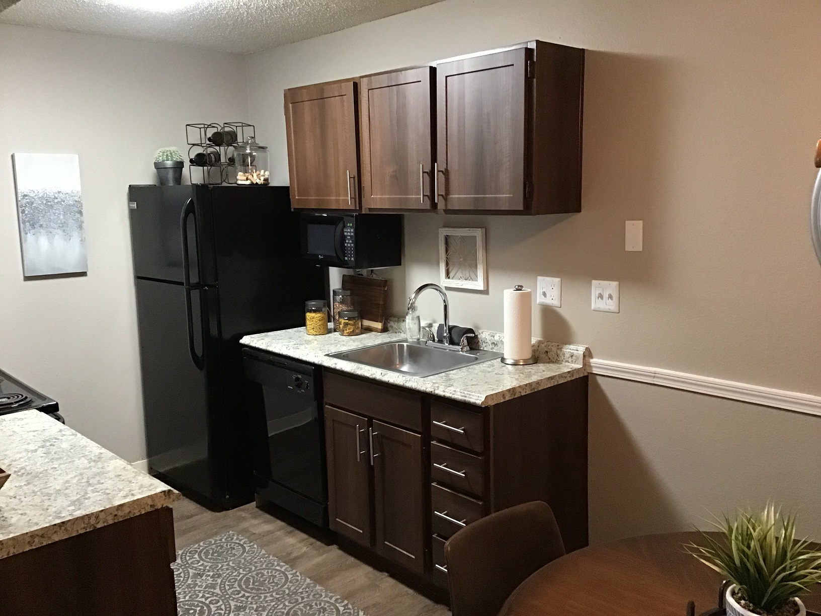 Fully Equipped Kitchen at Rustic Woods Apartments in Tulsa, Oklahoma