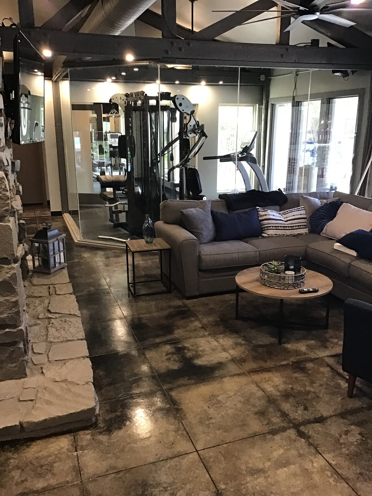 On Demand Fitness Center at Rustic Woods Apartments in Tulsa, Oklahoma