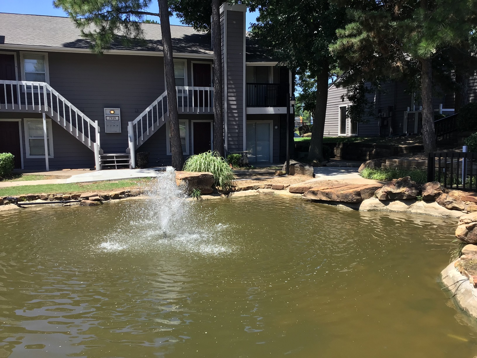 Fountain at Rustic Woods Apartments in Tulsa, Oklahoma