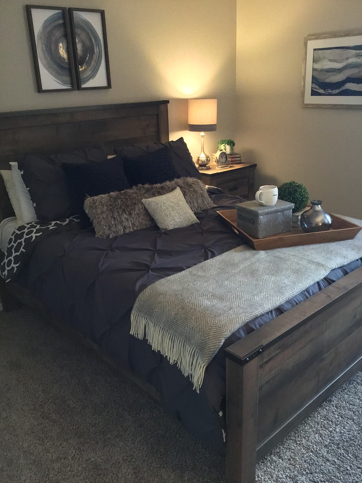 Bedroom at Rustic Woods Apartments in Tulsa, Oklahoma