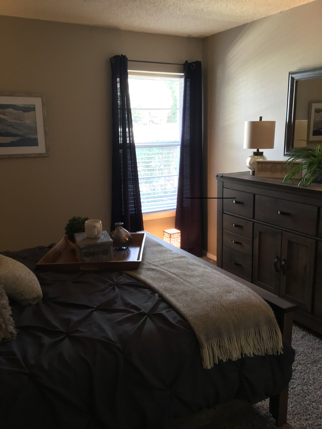 Large Bedroom at Rustic Woods Apartments in Tulsa, Oklahoma