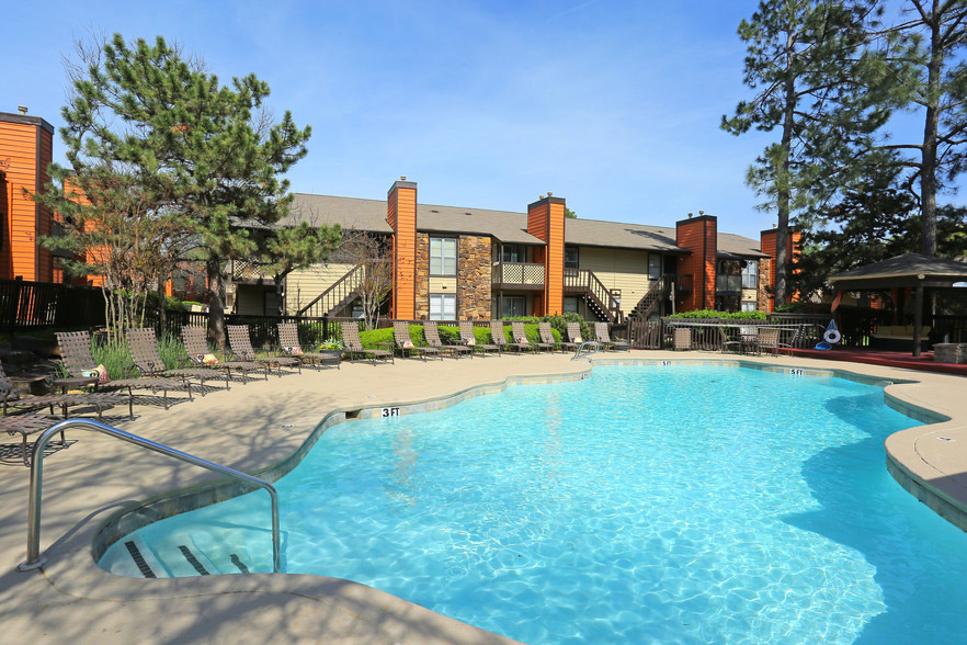 Resort-Style Pool at Rustic Woods Apartments in Tulsa, Oklahoma