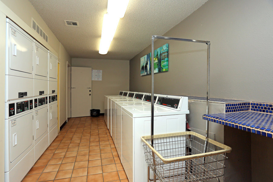 On-Site Laundry Center at Rustic Woods Apartments in Tulsa, Oklahoma