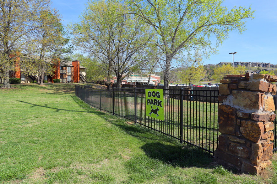 On-Site Dog Park at Rustic Woods Apartments in Tulsa, Oklahoma