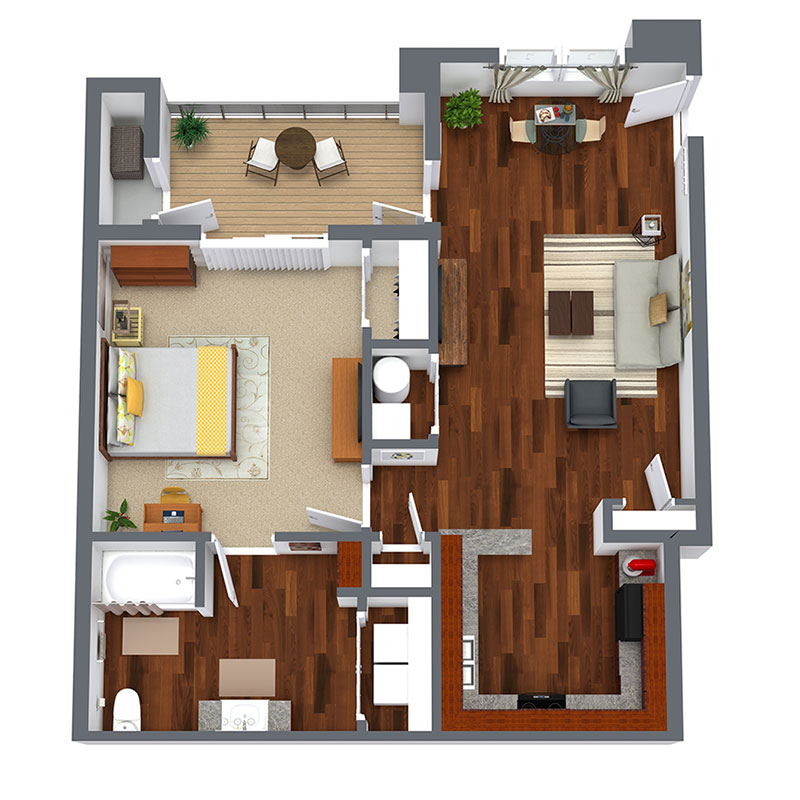 Informative Picture of 1 Bedroom - Affordable