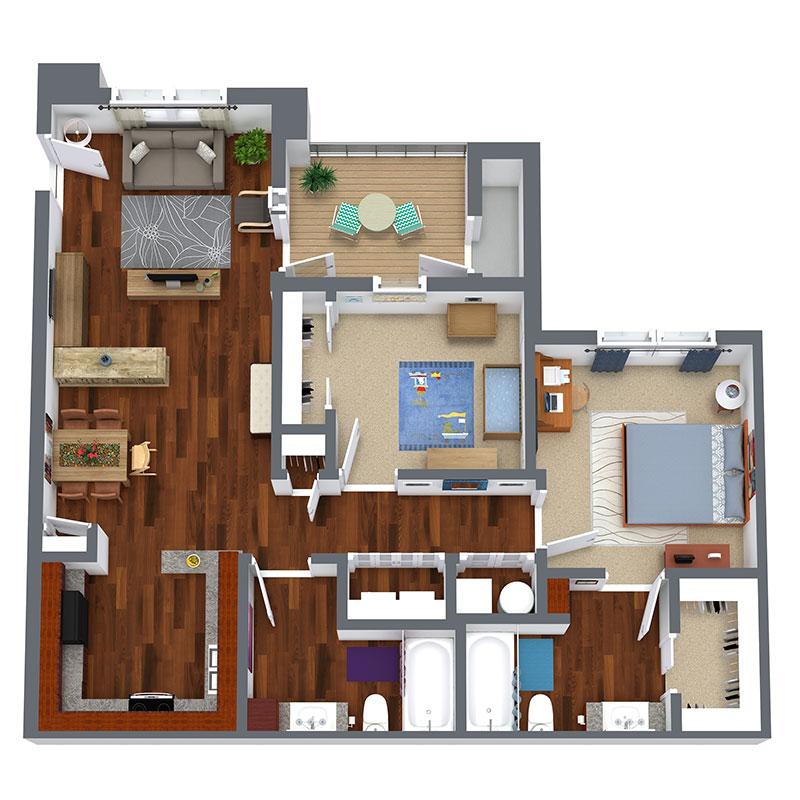 Reserves at Saddleback Ranch - Floorplan - 2 Bedroom