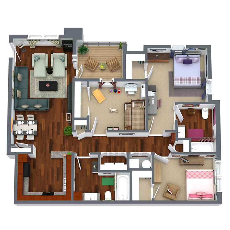 Informative Picture of 3 Bedroom -  Affordable