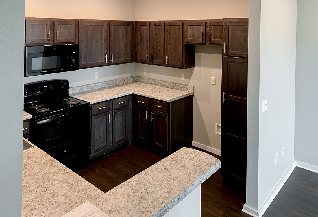 Fully Equipped Kitchens at Reserves at Saddleback Ranch Apartments in Wolfforth, Texas